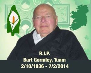 Óglach Bart Gormley - RSF Galway - CABHAIR Honouree