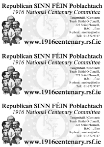 1916 Centenary Committee Handout