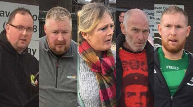Five people appeared in court accused of paramilitary involvement.
