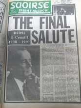 SAOIRSE newspaper at the time of Dáithí's Death