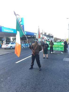 Colour Party in Limerick prior to march to the grave of Vol. Seán South
