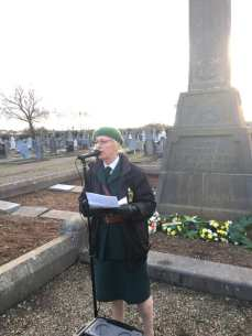 Colette Healy of Cumann na mBan delivering the main oration.