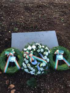 Wreaths laid at the grave of S. South